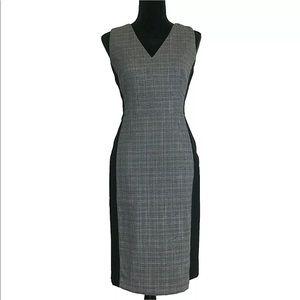 White House Black Market 10 Dress Sheath Plaid L